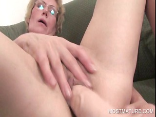 lusty lady pushing dildo craving cunt