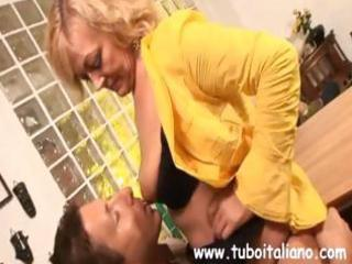 blonde italian milf makes out with the boss when