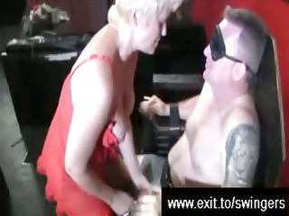 swinger suprise for bleached lady tracey