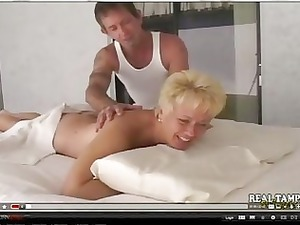 inexperienced mother fucked on massage stall