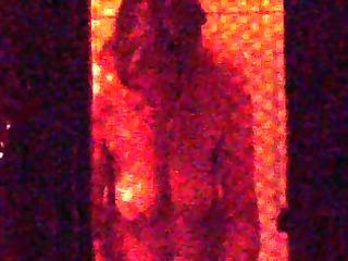window voyeur (brunette grown-up in the bathroom)