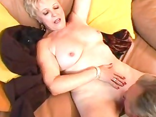 ideal shape on this sexy mature blond