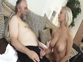 cougar pale mandy dee bounces her giant chest as