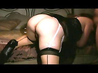 super wife inside lingerie acquiring a sperm from