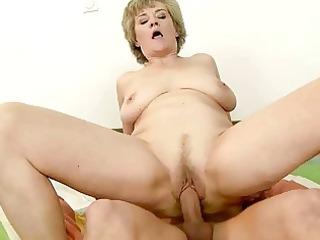 slutty grandma likes fuck with young man