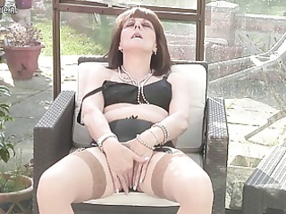 european amateur elderly acquires naughty and
