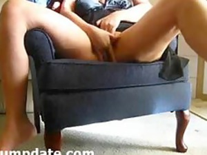 sexy milf fisting her horny cave on cam