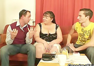 interview with plump chick leads to three people