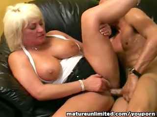 mature shakes her giant tits....