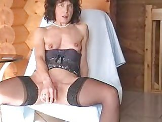 mature in stockings inserts sex toy