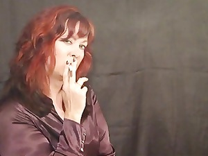 awesome mature smoking obsess