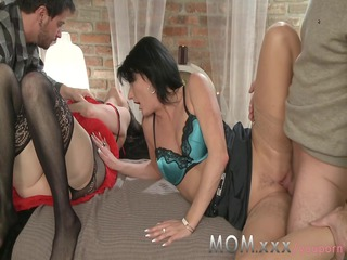 mom older  swingers get turns