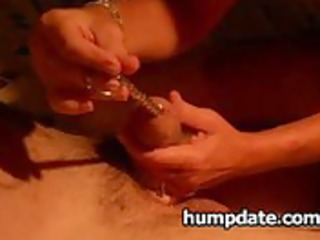 housewife gives hubby hot handjob with sounding