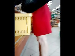 candid mature legs in pums at the store