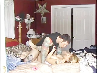 homegrowncreampies tattooed, inexperienced couple