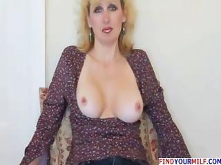 sweet older housewife gives blowjob and gets
