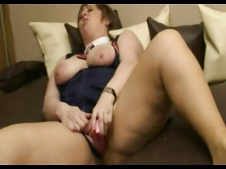 bbw grownup slag licking a lolly