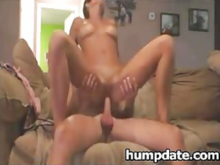 sweet woman drives libido and takes facialized