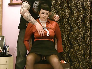 desperate satin lady into distress ripped pants