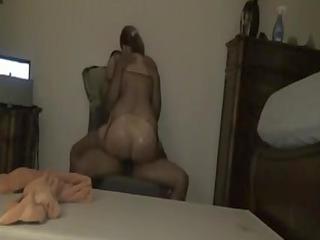 interracial cougar sex clip huge wazoo chick