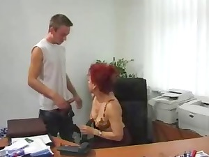 older secretary awesome sex