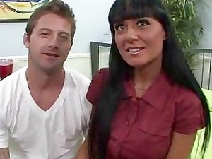 husband watching his hot woman getting pierced