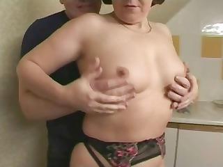 brunette british elderly is taking fingered and