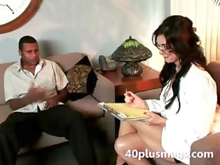 mature roma pleases doctor with black hunk