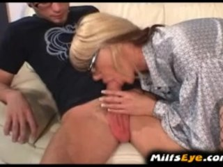 woman doing amateur boy