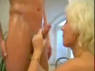 blond mature milf drilled in the bathroom