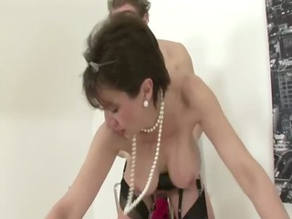 cougar stocking fetish whore uneasy  banging