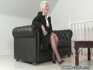 mature chick exposes her desperate lingerie