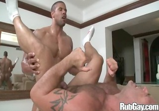 rubgay difficult butt massage