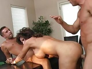 naughty brunette desperate lady taking twice