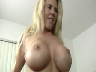 sexy giant boobed milf girl tugging and cant