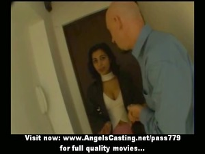 sweet brunette indian bride talking with a guy
