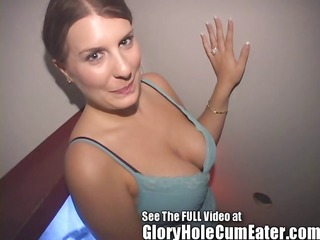 gloryhole wife rose ryder swallowing gloryhole