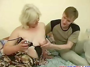 naughty woman seduced by young guy