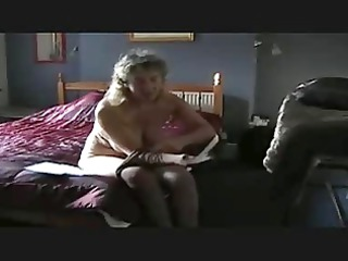 cougar puts stockings on
