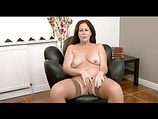 plump brunette grownup undresses and demonstrates