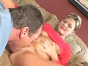 friend watches feisty golden-haired wife get dong