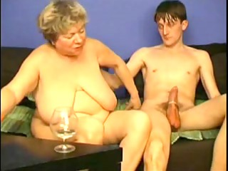 masturbating with corpulent grandma by troc