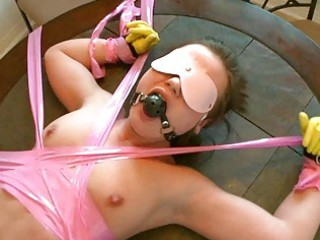 gorgeous woman roped and pierced with no mercy