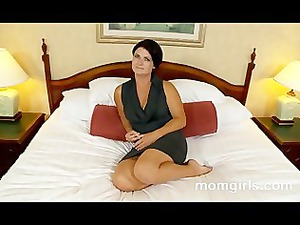 brunette lady does her primary mature video