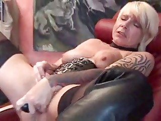 naughty mature masturbating with porn devices
