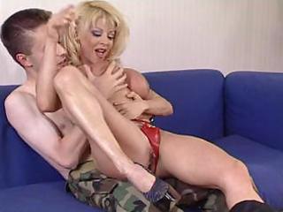 grownup slut donna checks amateur soldier s skills