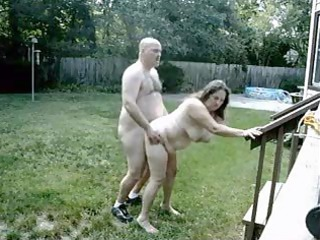 cougar couple drill outside