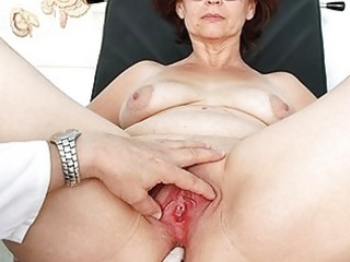 elderly ivana cougar vagina speculum gyno