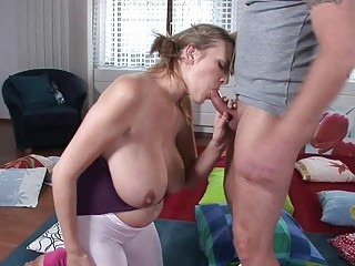 lusty blond lady lady gives breathtaking dick