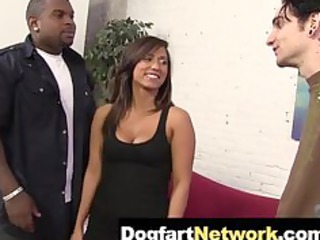 cuckold watches his maiden copulate a black cock